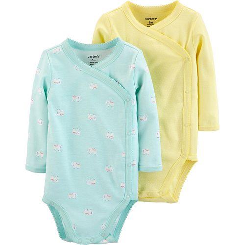 Baby Girl Carter's 2 Pack Kimono Bodysuits