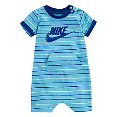 601c83a967bf Baby Boy Nike Striped Logo Romper
