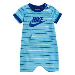 Baby Boy Nike Striped Logo Romper