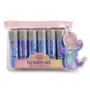 Simple Pleasures Mermaid 6-Piece Lip Balm With Glitter Cap Set