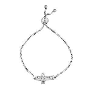 Charming Girl Crystal Cross Adjustable Bracelet