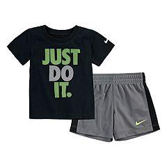 Toddler Boy Nike 'Just Do It.' Tee & Striped Shorts Set