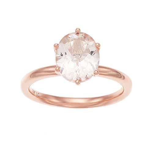 LC Lauren Conrad 10k Rose Gold Oval Morganite Ring