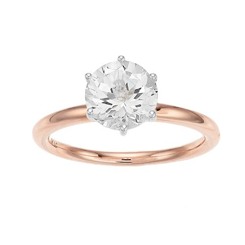 LC Lauren Conrad 10k Rose Gold White Topaz Ring