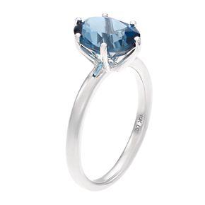 LC Lauren Conrad 10k White Gold Blue Topaz Ring