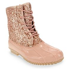 sugar Skipper Women's Waterproof Glitter Rain Boots