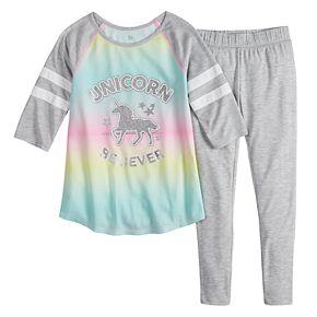 Girls SO® 7-14 Varsity 2-Piece Pajama Set