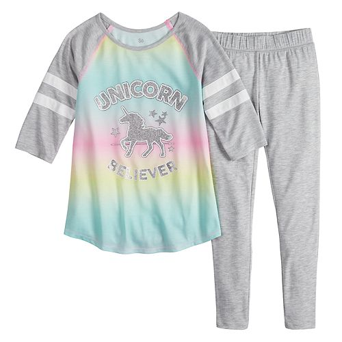 Girls SO® 7-14 Varsity 2-Piece Pajama Set