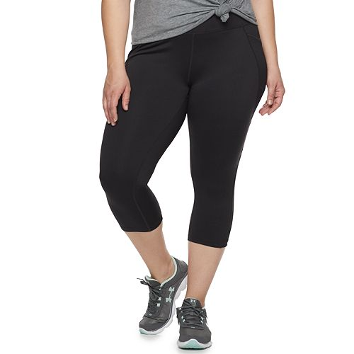 Plus Size Tek Gear® Performance Mid Rise Side Pocket Capri Leggings