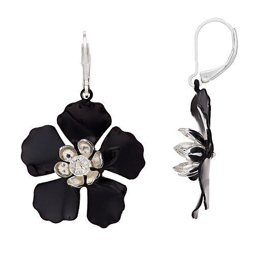Dana Buchman Flower Drop Earrings