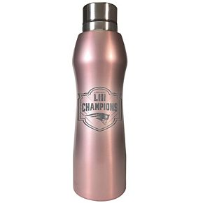 New EnglandPatriots Super Bowl LIII Champions Rose-Gold Finish Water Bottle
