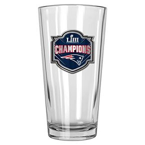 New EnglandPatriots Super Bowl LIII Champions Shaker Glass