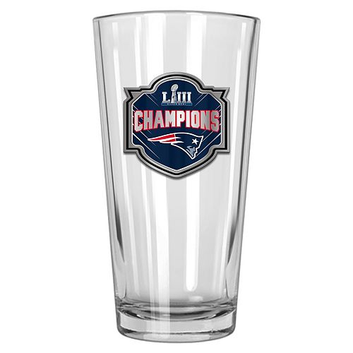 New England Patriots Super Bowl LIII Champions Shaker Glass