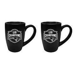 New England Patriots Super Bowl LIII Champions Bistro Mug Set