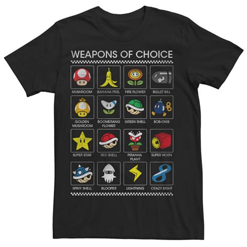 Men's Mario Kart 8 Weapons Of Choice Tee