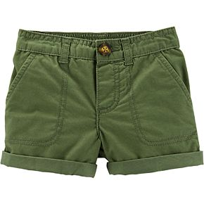 Toddler Girl Carter's Pull-On Twill Shorts
