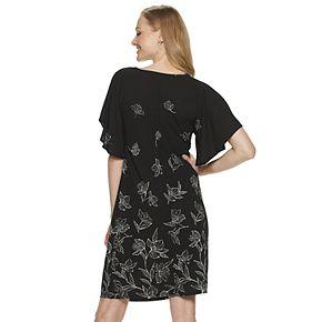 Women's Apt. 9® Flutter Sleeve Voop Dress