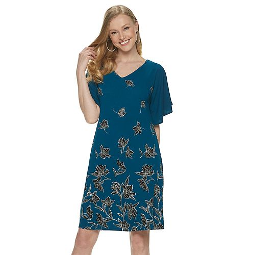 Women's Apt. 9® Flutter Sleeve Voop Dress