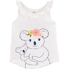 Toddler Girl Carter's Ruffled Graphic Tank Top