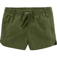 Toddler Girl Carter's Dolphin-Hem Twill Shorts