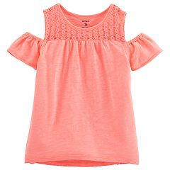 Toddler Girl Carter's Cold-Shoulder Crocheted Top