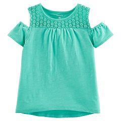 Toddler Girl Carter's Cold-Shoulder Crocheted Top