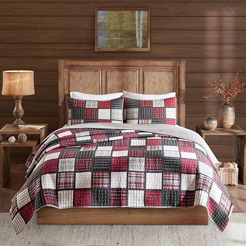 Woolrich Tulsa Oversized Plaid Print Cotton Quilt Set