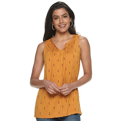 Women's SONOMA Goods for Life™ Sleeveless Peasant Top