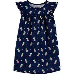 Toddler Girl Carter's Shirred-Yoke Printed Dress