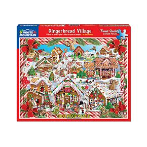 White Mountain Puzzles Gingerbread Village - 1000 Piece Jigsaw Puzzle