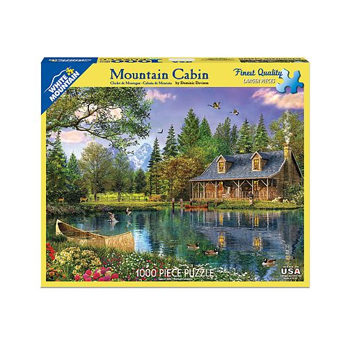 White Mountain Puzzles Mountain Cabin - 1000 Piece Jigsaw Puzzle