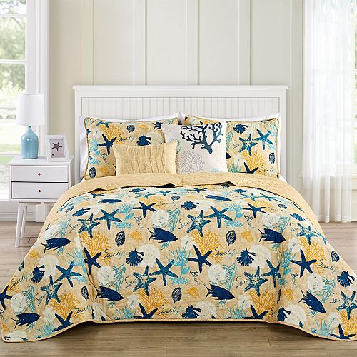 VCNY Aquatic 5-Piece Quilt Set