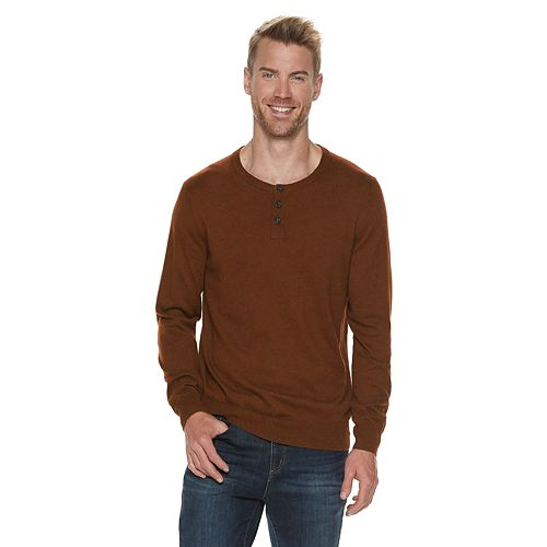 Men's SONOMA Goods for Life™ Supersoft Henley Sweater