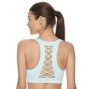 FILA SPORT® Lace-Up Back Medium-Impact Sports Bra