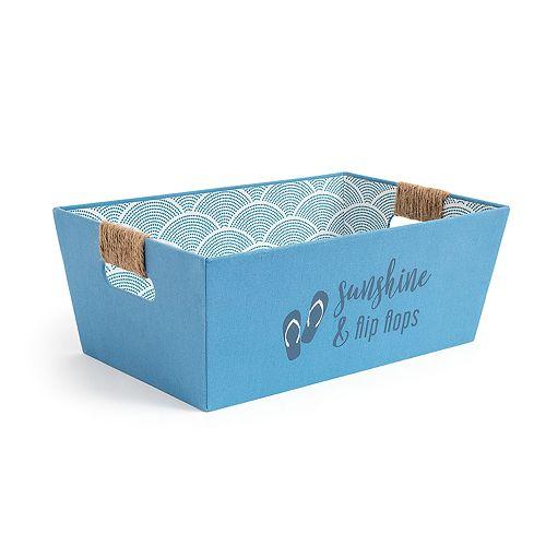 Enchante Accessories Sunshine & Flip Flops Tapered Shelf Bin