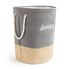 Enchante Accessories Round Tapered Soft Laundry Hamper