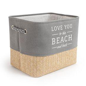 "Enchante Accessories ""Love You to the Beach"" Soft Storage Bin"