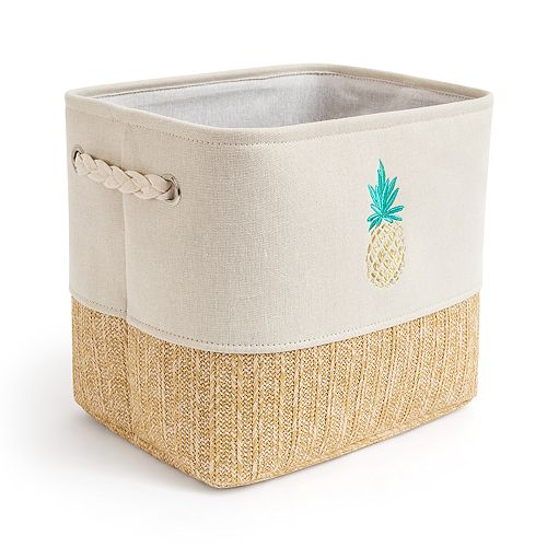 Enchante Accessories Pineapple Storage Bin
