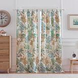 Atlantis Jade 2-pack Window Curtains