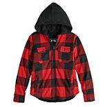 Boys 8-20 Urban Pipeline? Buffalo Check Polar Fleece Jacket