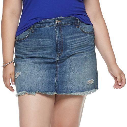 Juniors' Mudd® Destructed Skirt