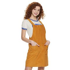 Juniors' Cloud Chaser Corduroy Overall Dress
