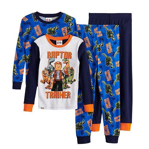 Boys 4-10 Lego Jurassic World 4-Piece Pajama Set