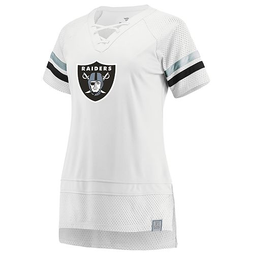 Women's Oakland Raiders White Out Draft Me Tee