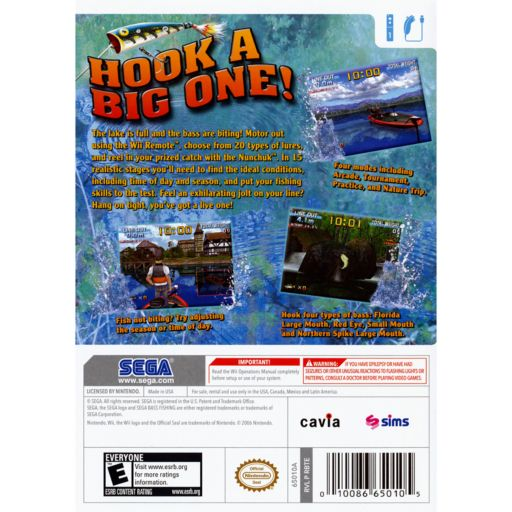 Nintendo Wii SEGA Bass Fishing