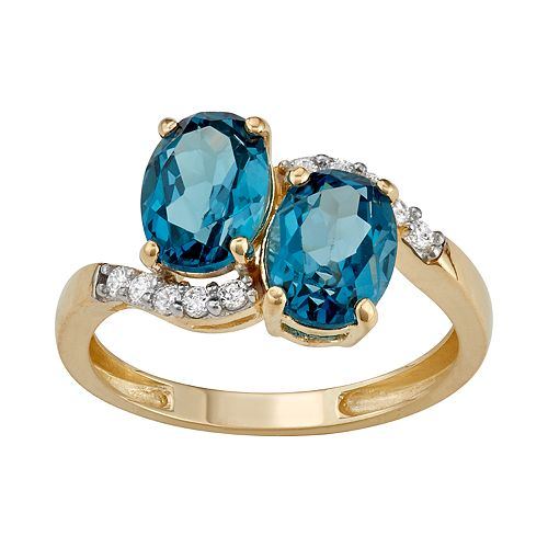 10k Gold London Blue Topaz Ring