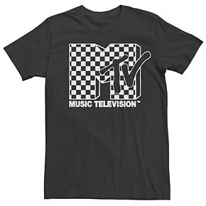 Men's MTV Checkered Logo Tee