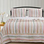Greenland Home Sunset Stripe Quilt Set