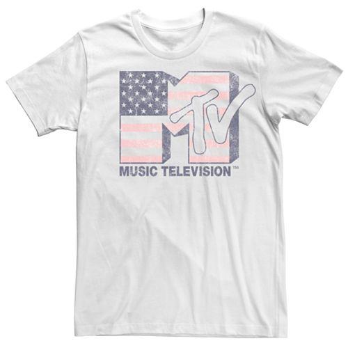 Men's MTV American Flag Logo Tee