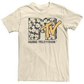 Men's MTV Floral Logo Tee